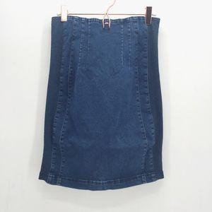 7FAM Super Stretchy Denim Pencil Skirt